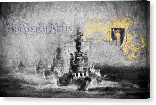 Rotc Canvas Print - The Uss Massachusetts  by JC Findley