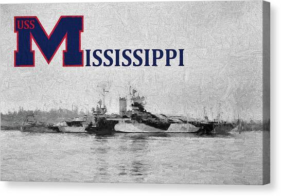Mississippi State University Canvas Print - The Uss Mississippi by JC Findley