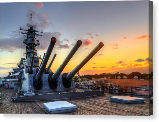 The Uss Missouri's Last Days Canvas Print