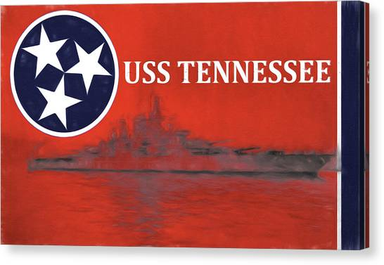 The University Of Tennessee Canvas Print - The Uss Tennessee by JC Findley