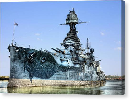 The U.s.s. Texas Canvas Print by JC Findley