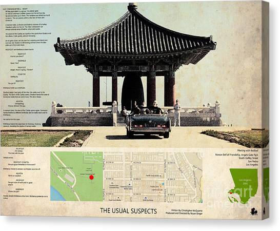The Usual Suspects Canvas Print - The Usual Suspects Film Location, Korean Bell Of Friendship, Angels Gate Park  by Pablo Franchi