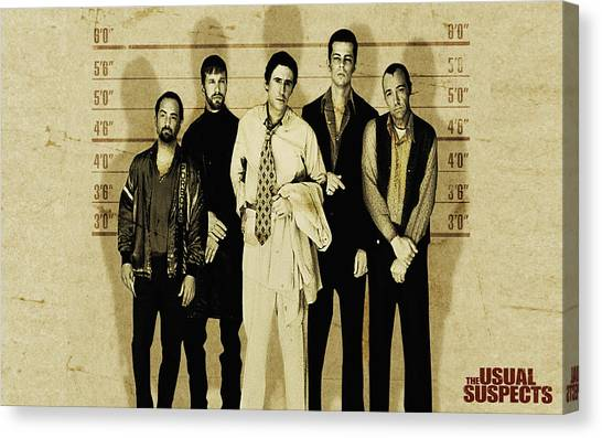 The Usual Suspects Canvas Print - The Usual Suspects by Lucie Malecot
