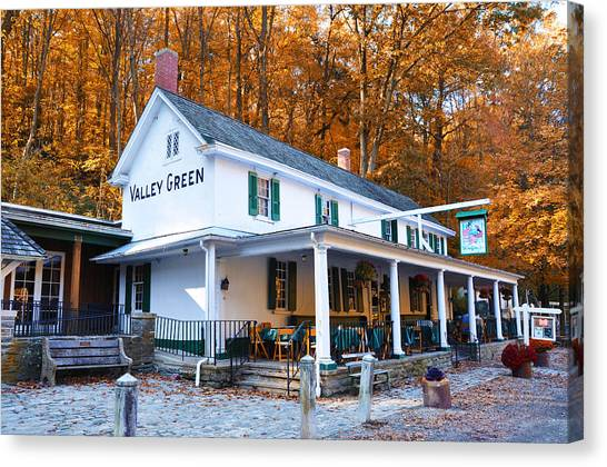 The Valley Green Inn In Autumn Canvas Print
