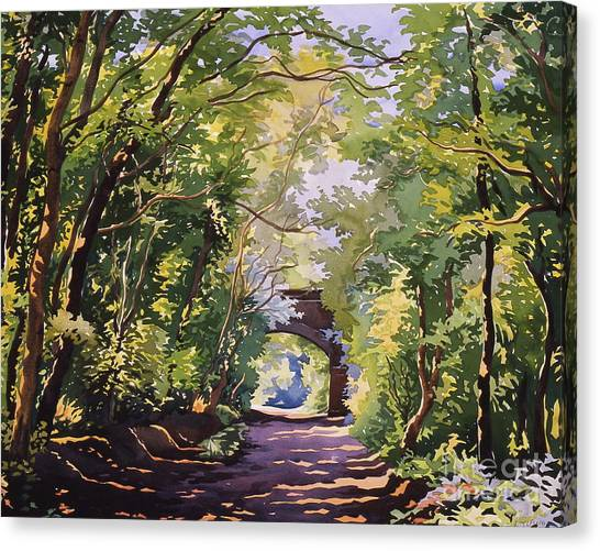 Forest Paths Canvas Print - The Valley Walk, Sudbury by Christopher Ryland