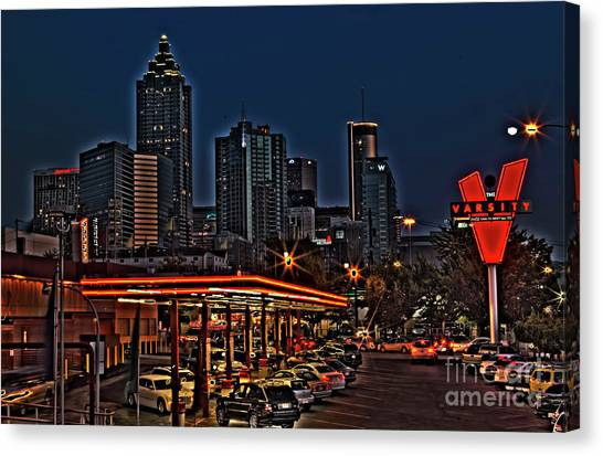 Jasper Johns Canvas Print - The Varsity Atlanta by Corky Willis Atlanta Photography