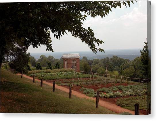 The Vegetable Garden At Monticello Canvas Print