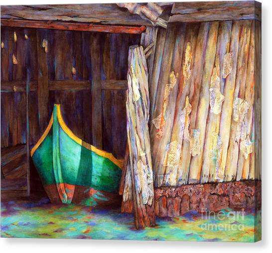 The Venetian Boathouse Canvas Print by Winona Steunenberg
