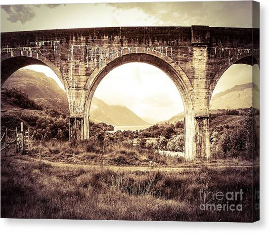 The Viaduct And The Loch Canvas Print