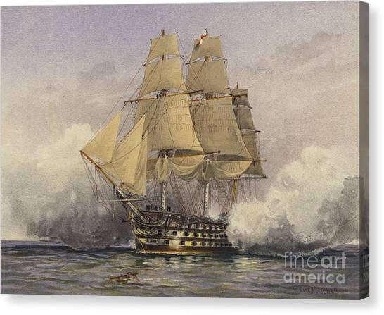 Royal Marines Canvas Print - The Victory by William Frederick Mitchell