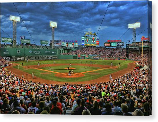 The View From Behind Home Plate - Fenway Park Canvas Print