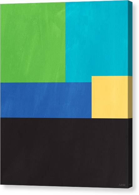 Rectangles Canvas Print - The View From Here- Modern Abstract by Linda Woods