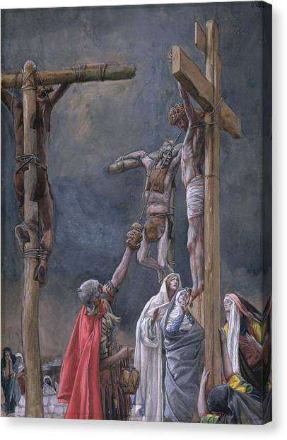 Crucify Canvas Print - The Vinegar Given To Jesus by Tissot