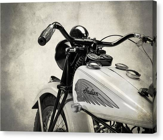 Scouting Canvas Print - The Vintage Indian by Mark Rogan