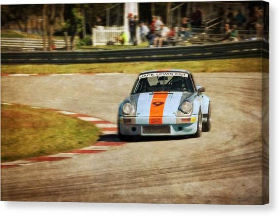 John Adams Canvas Print - The Vintage Porsche by John Adams