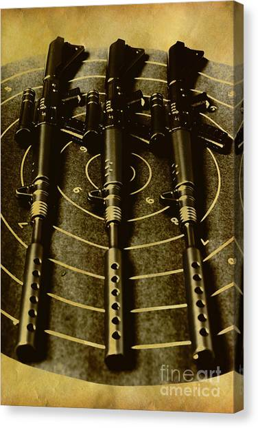 Rifles Canvas Print - The Vintage Sniper Rifle Range by Jorgo Photography - Wall Art Gallery