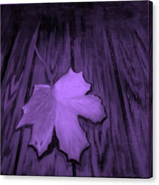 The Violet Leaf Canvas Print by Ninna