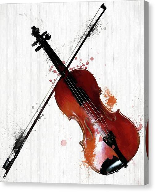 Music Genres Canvas Print - The Violin And Bow by Dan Sproul