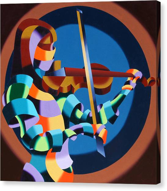The Violinist Canvas Print by Mark Webster