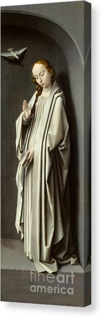The Annunciation Canvas Print - The Virgin Annunciate by Gerard David