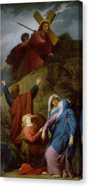 The Crown Canvas Print - The Virgin Of Calvary by Jules Eugene Lenepveu