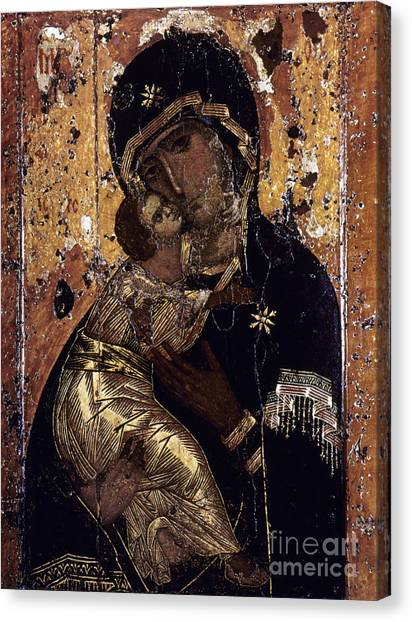 Orthodox Art Canvas Print - The Virgin Of Vladimir by Granger
