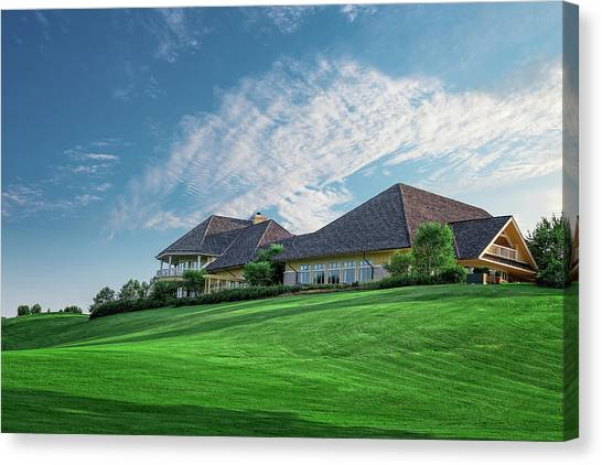 Golf Course Canvas Print - The Virtues Golf Course Clubhouse by Tom Mc Nemar