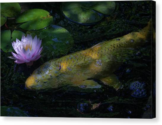 Canvas Print featuring the photograph The Visitor by David Coblitz