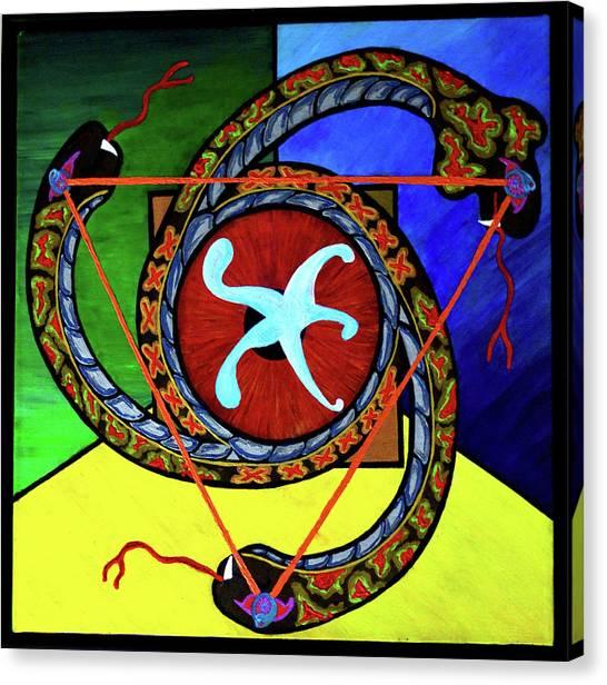 The Vitruvian Serpent Canvas Print