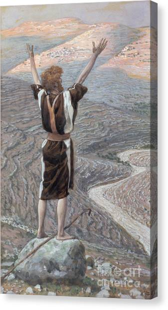 Arms Outstretched Canvas Print - The Voice In The Desert by Tissot