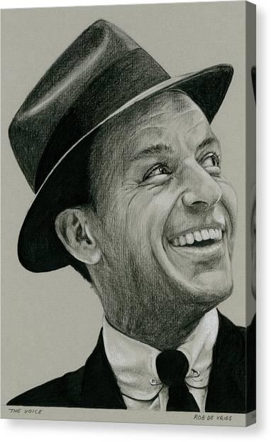 Frank Sinatra Canvas Print - The Voice by Rob De Vries