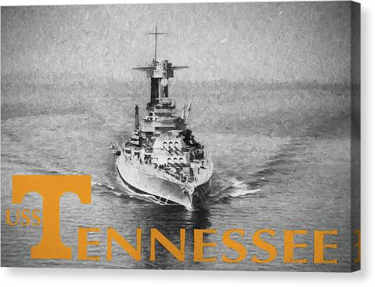 The University Of Tennessee Canvas Print - The Vol Navy by JC Findley