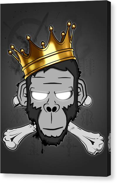 Monkeys Canvas Print - The Voodoo King by Nicklas Gustafsson