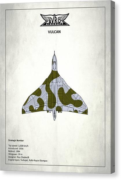 Vulcans Canvas Print - The Vulcan - White by Mark Rogan