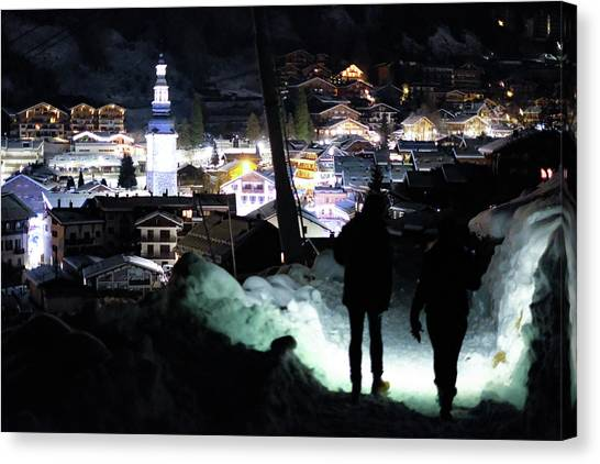 The Walk Into Town- Canvas Print