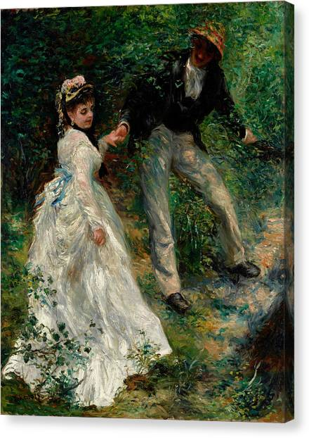 Pierre-auguste Renoir Canvas Print - The Walk by Pierre-Auguste Renoir