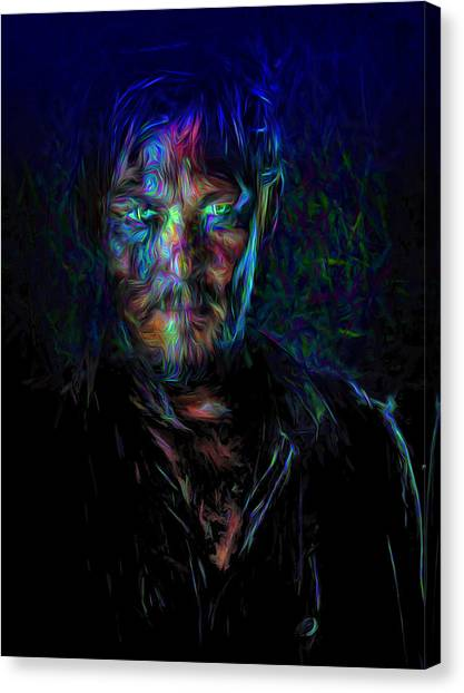 The Walking Dead Daryl Dixon Painted Canvas Print