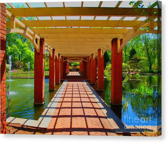 The Walkway Canvas Print by Judy  Waller