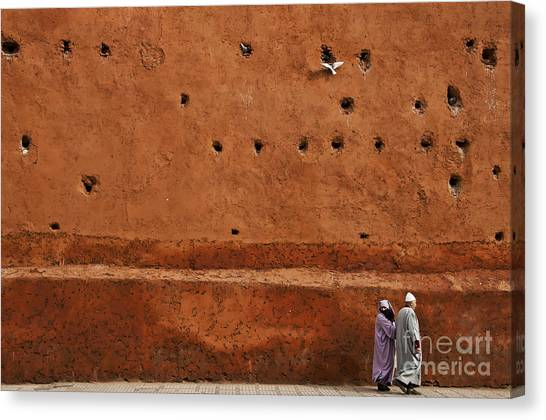 Moroccon Canvas Print - The Wall by Marion Galt