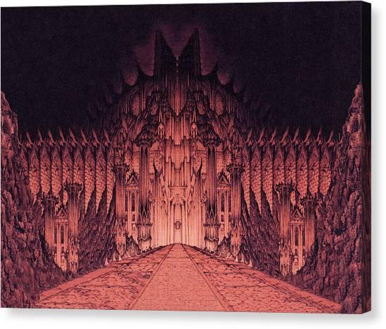 The Walls Of Barad Dur Canvas Print