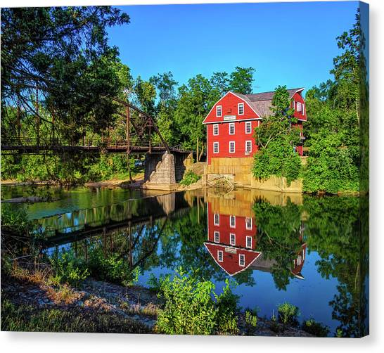 Northwest Canvas Print - The War Eagle Arkansas Mill And Bridge IIi - Northwest Arkansas by Gregory Ballos