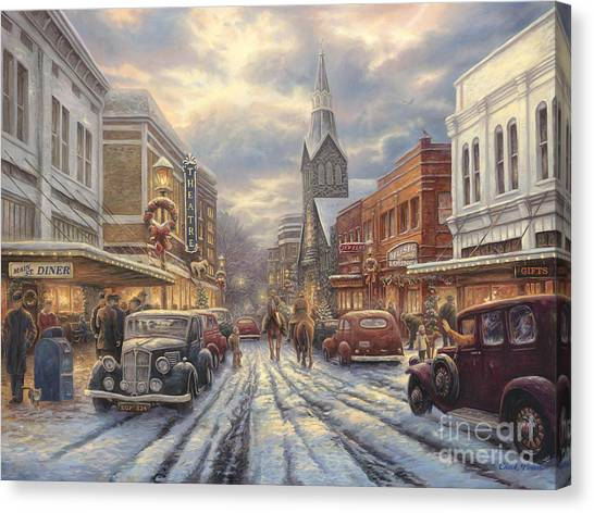 G Canvas Print - The Warmth Of Small Town Living by Chuck Pinson