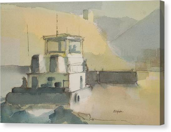 Tugboat Canvas Print - The Wash by Robert Yonke
