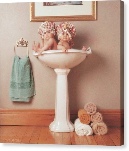 Canvas Print - The Washbasin by Anne Geddes