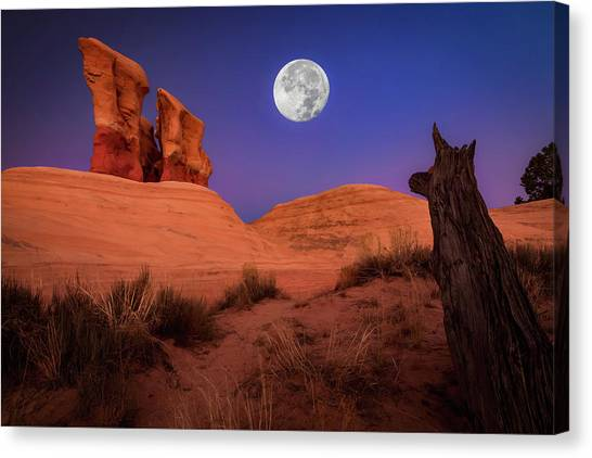 Red Rock Canvas Print - The Watcher by Edgars Erglis