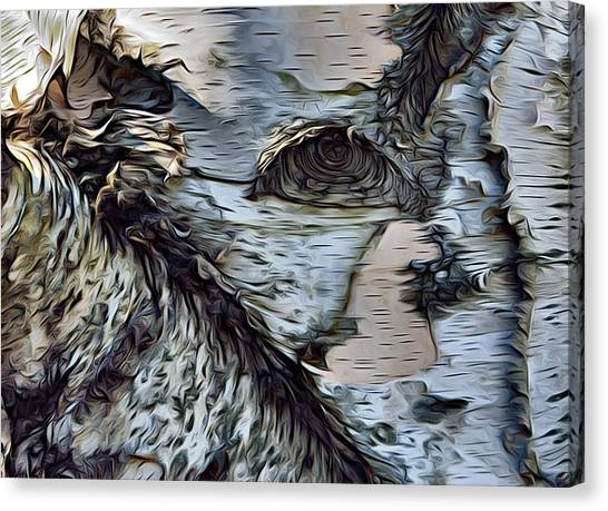 The Watcher In The Wood Canvas Print