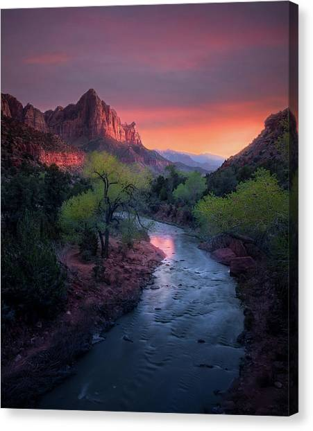 The Watchman // Zion National Park  Canvas Print