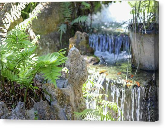 Canvas Print featuring the photograph The Water And Rock Spot by Raphael Lopez