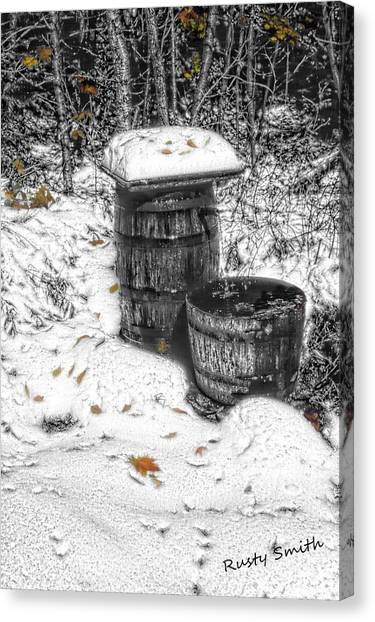 The Water Barrel Canvas Print