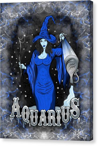 The Water Bearer Aquarius Spirit Canvas Print